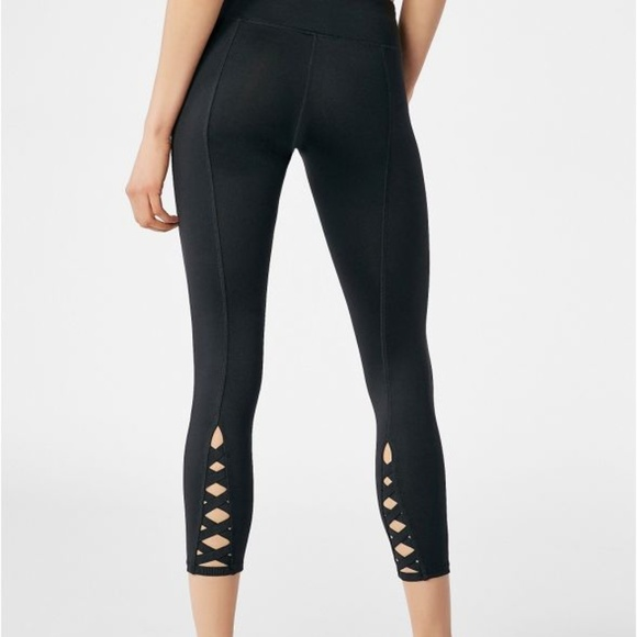 282399f594270c Fabletics Pants | Clearance Nwt Justfab Back Lace Active Legging ...